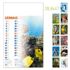 calendario da muro illustrato olandese animali