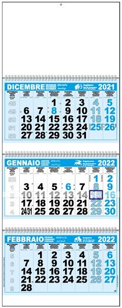 Calendario Italiano 2020 Con Festivita.Calendari Trittici 2020